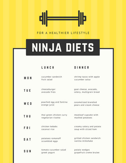 Customize 47+ Monthly Menu templates online - Canva
