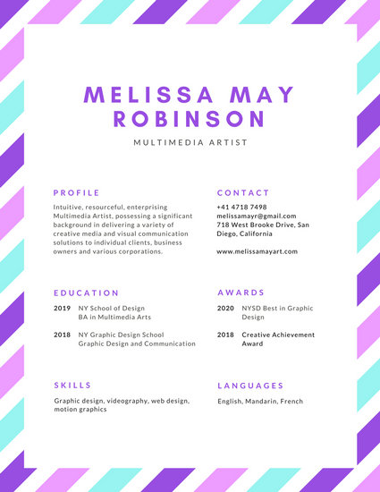 online resume for free