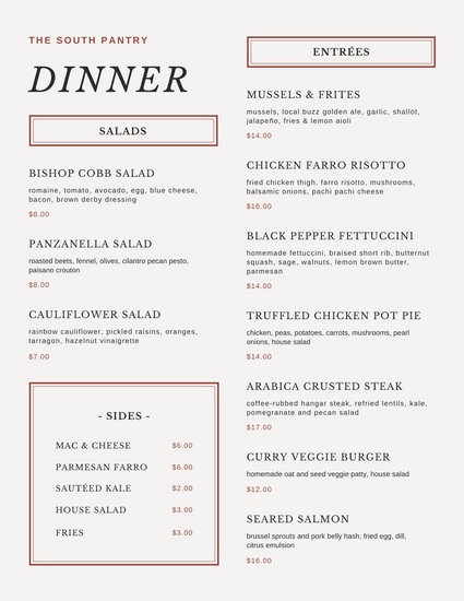 Customize 404+ Dinner Party Menu templates online - Canva