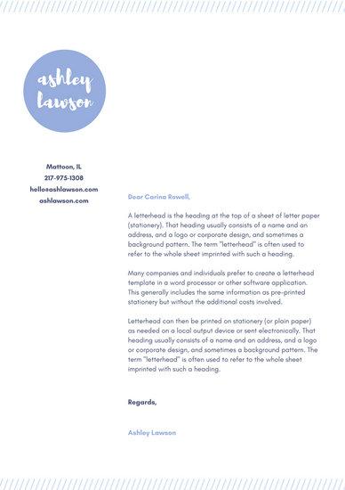 Personal Letterhead Templates - Canva - personal letterhead template