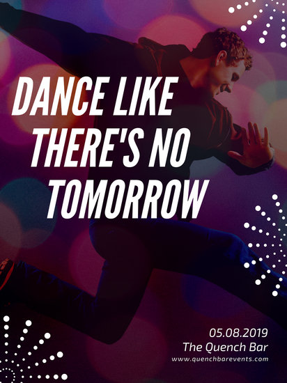 Poverty Wallpapers With Quotes Customize 85 Dance Poster Templates Online Canva