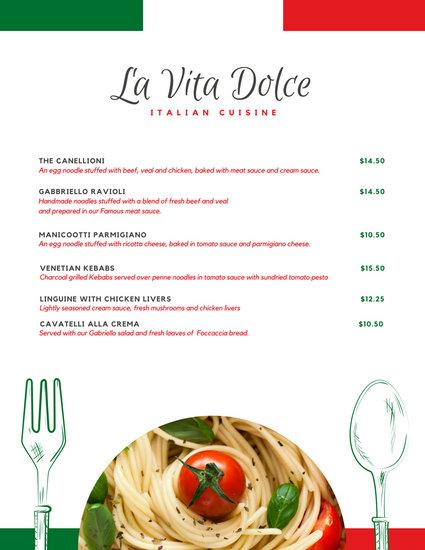Customize 156+ Italian Menu templates online - Canva
