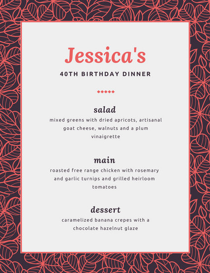 Customize 404+ Dinner Party Menu templates online - Canva - Free Printable Dinner Party Invitations
