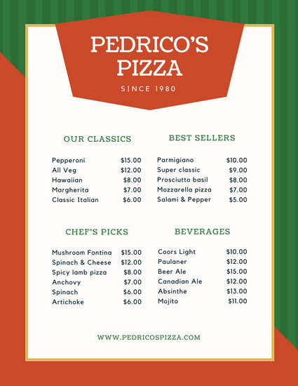 Customize 156+ Italian Menu templates online - Canva - italian menu