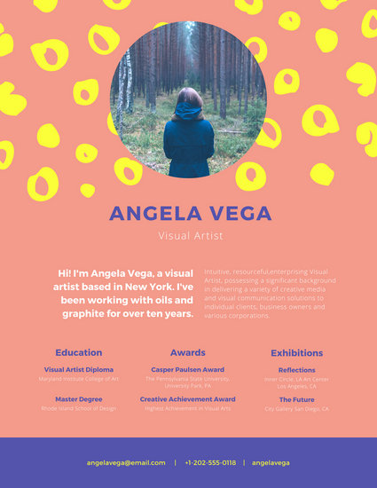 Colorful Visual Artist Resume - Templates by Canva