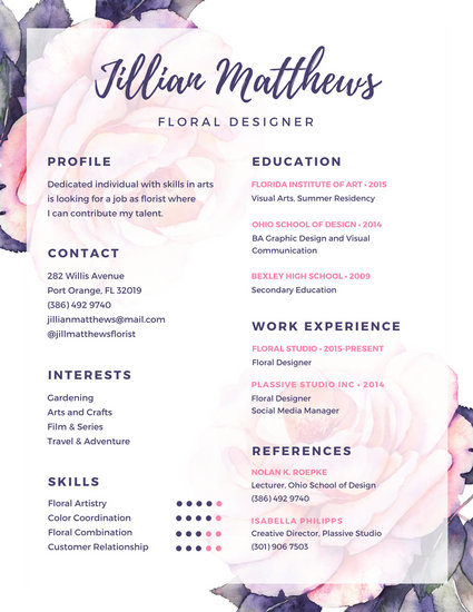 floral clerk sample resume env 1198748 resumecloud florist resume - Floral Assistant Sample Resume