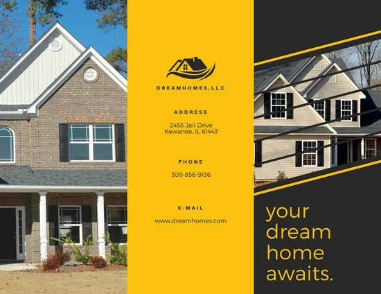 Real Estate TriFold Brochure - Templates by Canva