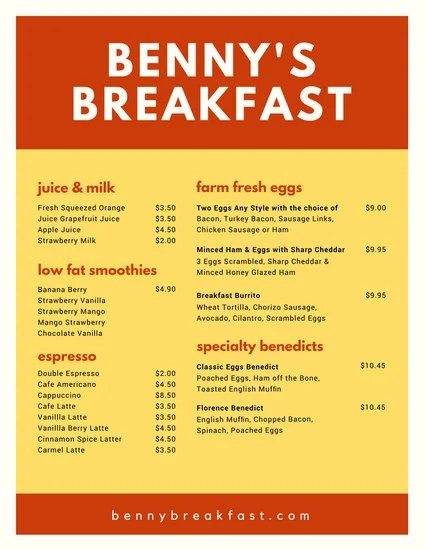 Rectangle Patterned Breakfast Menu - Templates by Canva