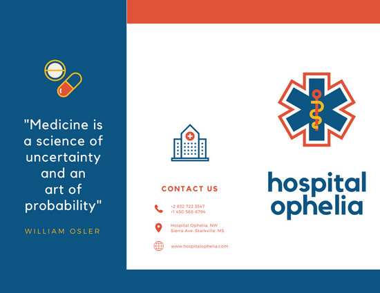 Red and Blue Icons Medical Trifold Brochure - Templates by Canva - tri fold mailer template