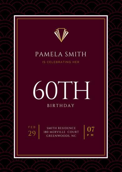 60th Birthday Invitation Templates - Canva - invitations templates