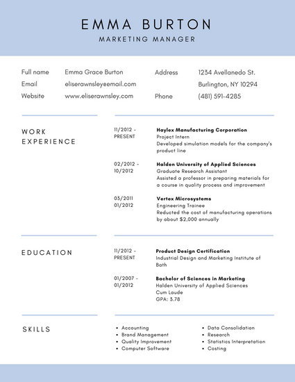 Customize 192+ Corporate Resume templates online - Canva - corporate resume template