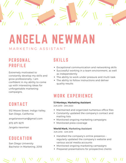 Creative Interior Designer Resume - Templates by Canva - tattoo artist resume