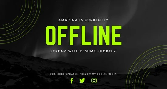 Neon Green Futuristic Twitch Banner - Templates by Canva - yt banner template
