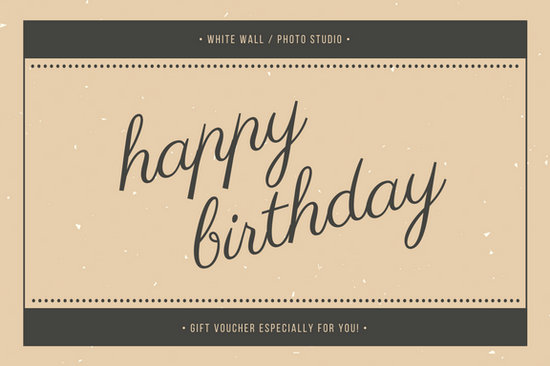Beige and Charcoal Vintage Birthday Gift Certificate - Templates by - birthday gift certificate