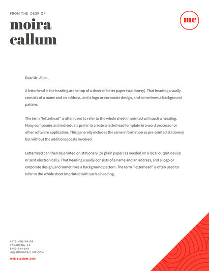 Customize 81+ Official Letterhead templates online - Canva