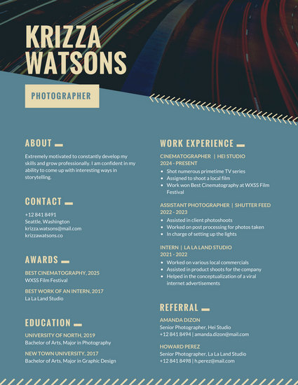 Customize 397+ Creative Resume templates online - Canva - artistic resume templates