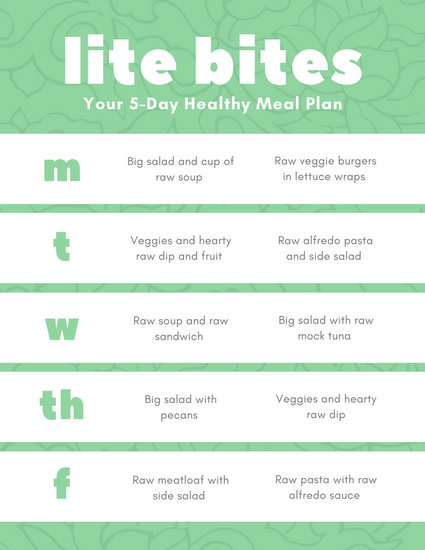 Green Pattern Healthy Weekly Meal Plan Menu - Templates by Canva - weekly healthy meal plan