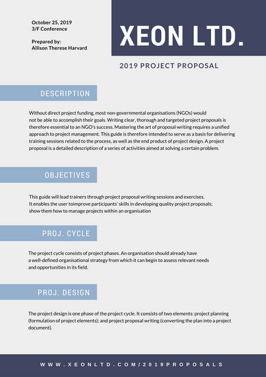 Blue Squares General Proposal - Templates by Canva - It Proposal Template