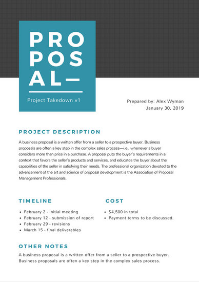 Simple Gray Grid General Project Proposal - Templates by Canva