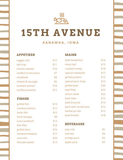Customize 215+ Lunch Menu templates online - Canva
