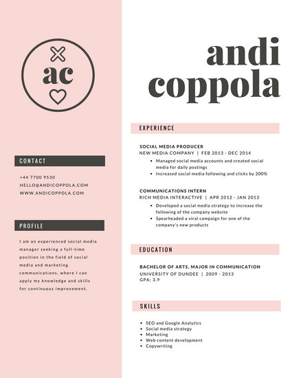 Customize 979+ Resume templates online - Canva