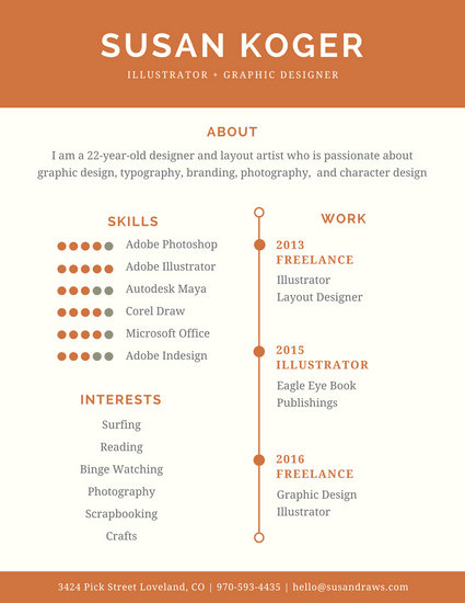 Customize 122+ Infographic Resume templates online - Canva - Resume For Graphic Designer