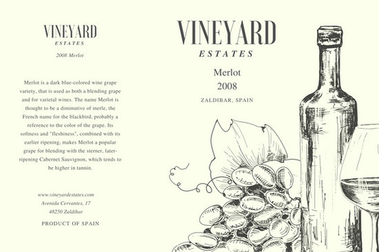 Customize 56+ Wine Label templates online - Canva - wine label