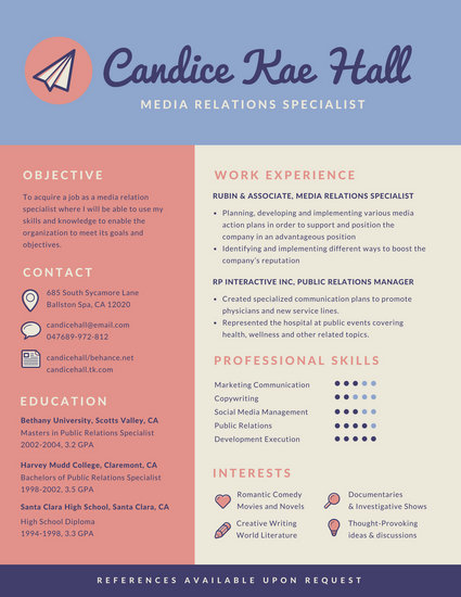 Pink and Purple Infographic Resume - Templates by Canva
