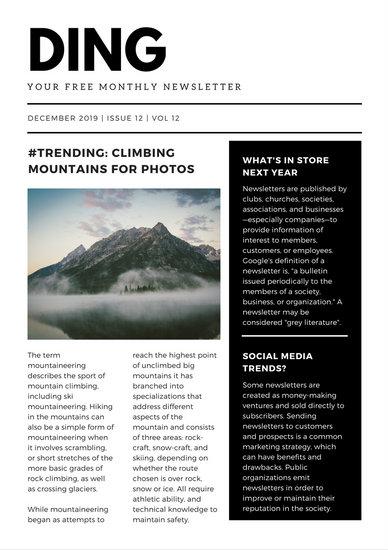 Customize 721+ Newsletter templates online - Canva - news letter formats