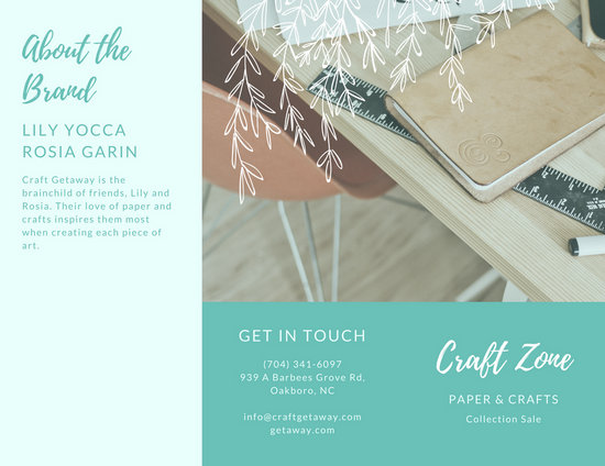 Pastel Pink Clothes Sales Tri-Fold Brochure - Templates by Canva