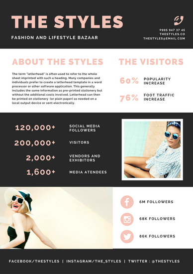 Customize 3,656+ Media Kit templates online - Canva - media kit template
