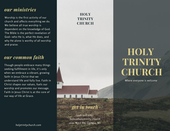 church pamphlet template