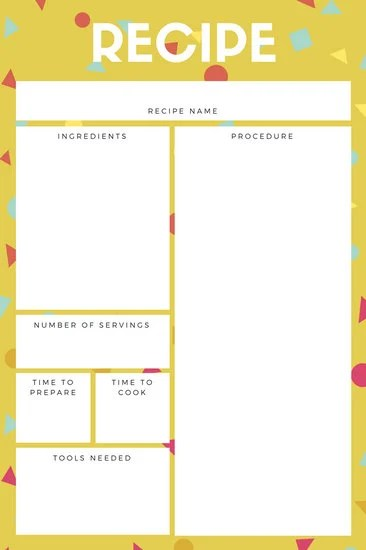 Customize 9,493+ Recipe Card templates online - Canva