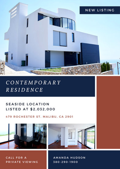 Contemporary Residence Real Estate Flyer - Templates by Canva - contemporary flyer