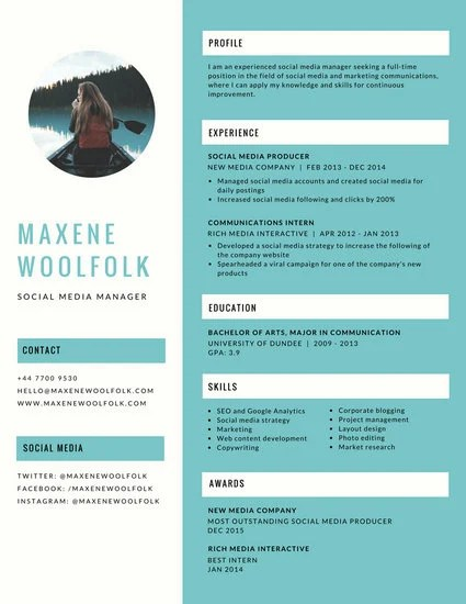 Customize 397+ Creative Resume templates online - Canva - creative resume template free