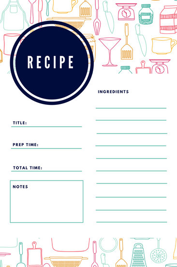 Customize 9,486+ Recipe Card templates online - Canva