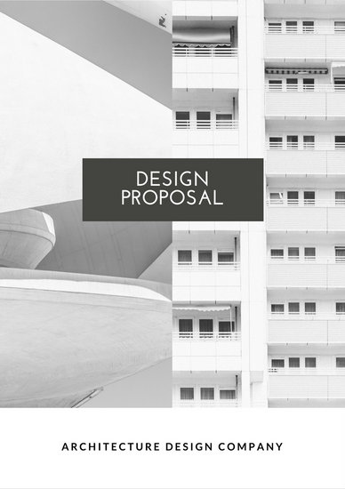 Black and White Design General Proposal - Templates by Canva - interior design proposal template