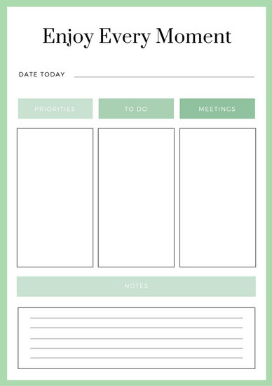 Customize 94+ Daily Planner templates online - Canva
