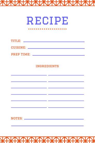 Recipe Card Templates - Canva - recipe card