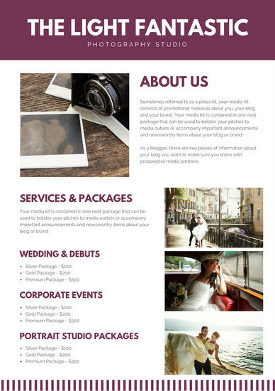 Customize 3,656+ Media Kit templates online - Canva