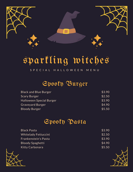 Customize 38+ Halloween Menu templates online - Canva