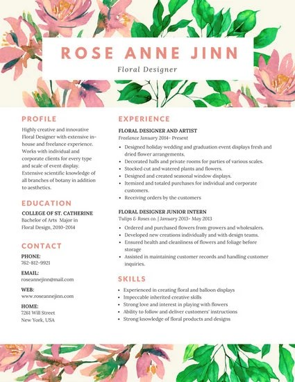 Customize 100+ Colorful Resume templates online - Canva