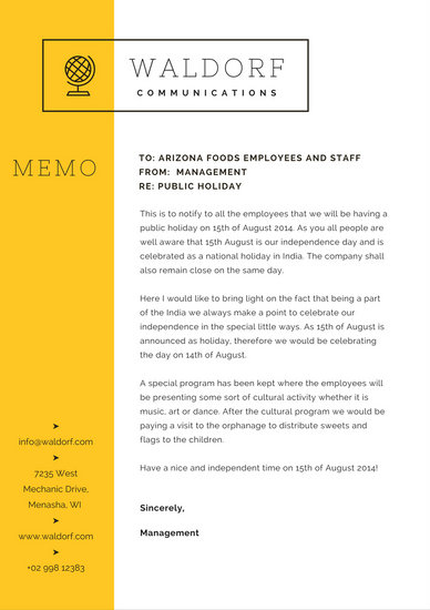 Yellow Globe Simple Memo - Templates by Canva