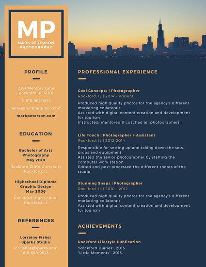 Customize 764+ Modern Resume templates online - Canva - modern resume design