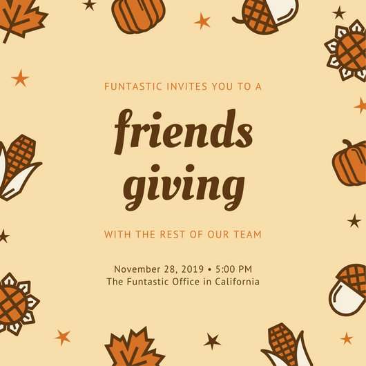 Customize 108+ Thanksgiving Invitation templates online - Canva