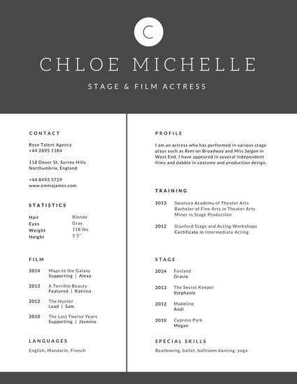 Minimalist Modern Black and White Resume - Templates by Canva