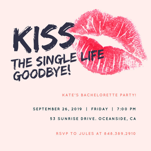 Colorful Cityscape Bachelorette Party Invitation - Templates by Canva