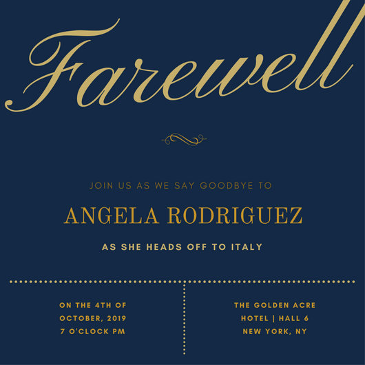 farewell invitations - Canasbergdorfbib