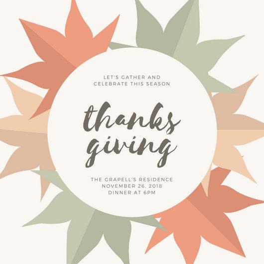 Customize 108+ Thanksgiving Invitation templates online - Canva
