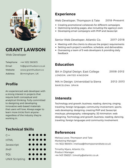 resume examples for sports marketing